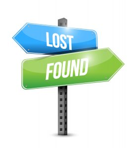 lost and found road sign