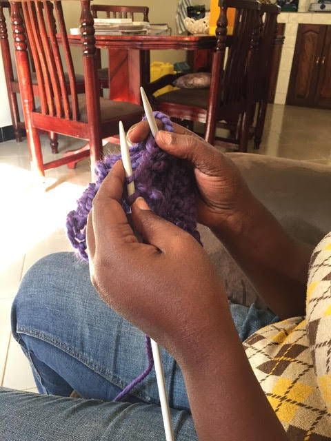whole lot of knitting going on